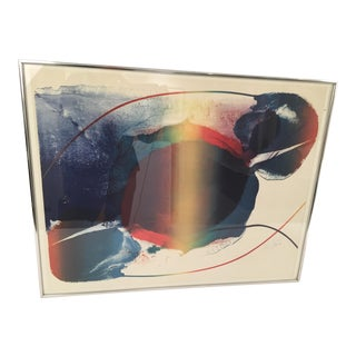 Paul Jenkins Signed Lithograph For Sale