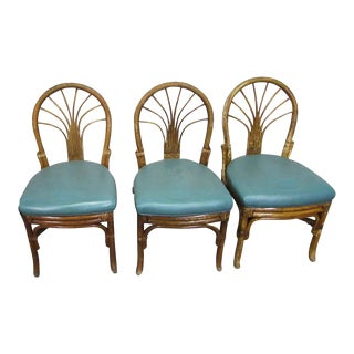 Vintage Mid Century Bamboo Bentwood Chair- Set of 3 For Sale