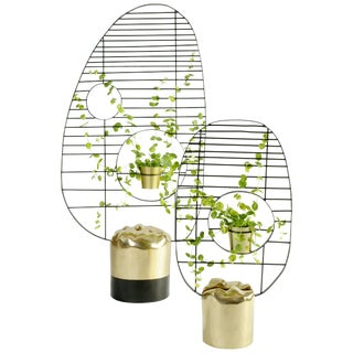 Pair of Contemporary Brass Screens, Meditations, Misaya For Sale