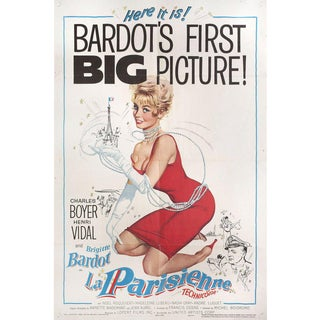 Une parisienne 1958 U.S. One Sheet Film Poster For Sale