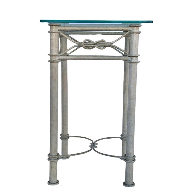 Vintage Dickinson Style Knotted Metal Pedestal For Sale - Image 9 of 9