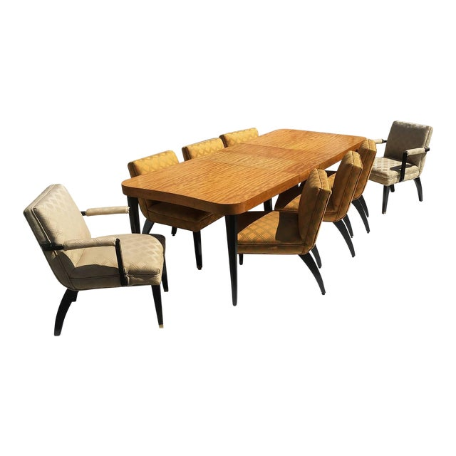 """Gilbert Rohde Art Deco """"Paldao"""" Dining Room Set for Herman Miller, Seats Eight For Sale"""