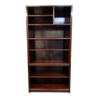 Vintage Rosewood Two-Piece Bookshelf For Sale