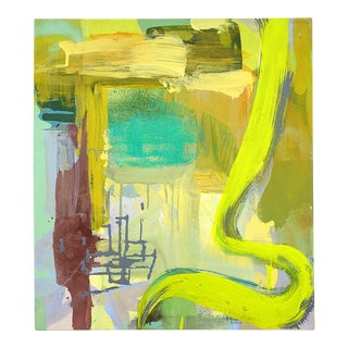 "Molly Herman ""Sonal Yellow"" Abstract Painting For Sale"
