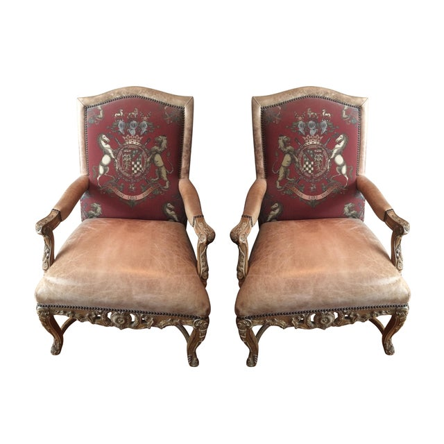 Ralph Lauren Leather Chairs - A Pair - Image 1 of 3