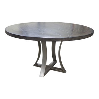 Fremarc Designs Iron Base Dining Table For Sale