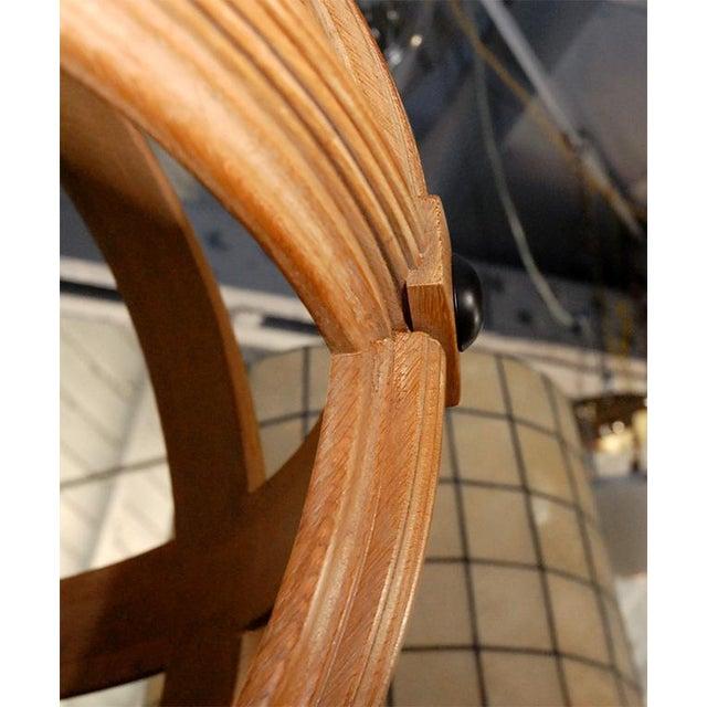 Brown Paul Marra Carved Oak Sphere Chandelier For Sale - Image 8 of 8