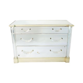 Mirrored, Lucite and Painted Commode in the Style of Syrie Maugham, C. 1930 For Sale