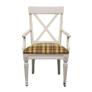 Late 20th Century Vintage Ethan Allen Regent's Park Dining Arm Chair For Sale