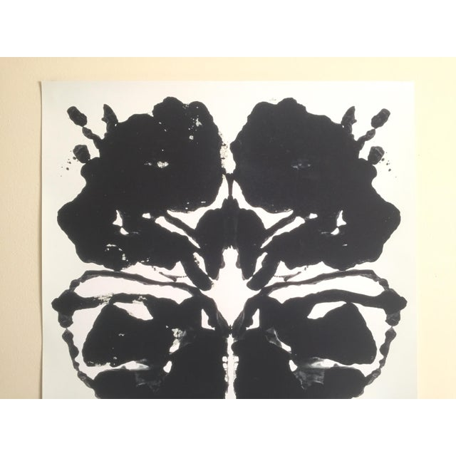 This original lithograph print Pop Art poster of a Rorschach ink blot is by the world famous Pop Artist Andy Warhol ( 1928...