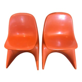 Mid Century Modern Begge Casalino Child's Chairs - a Pair