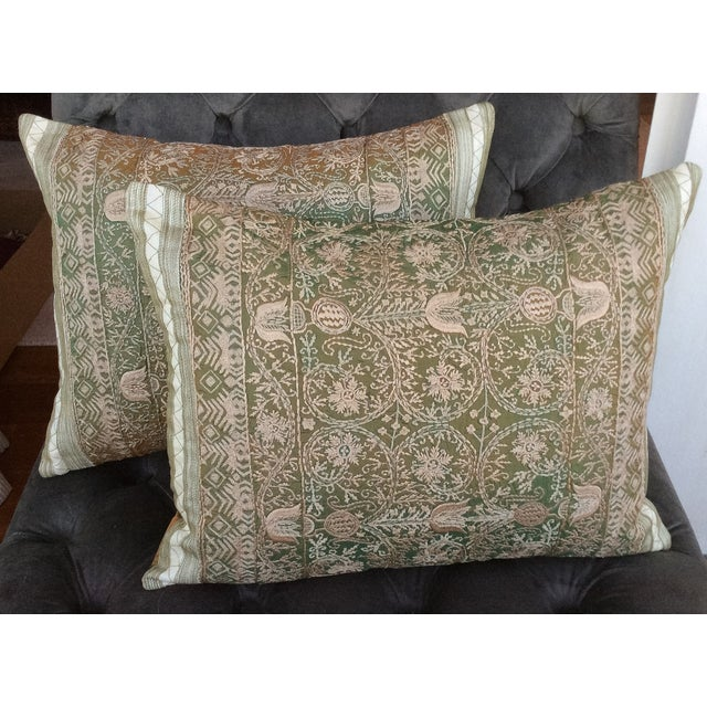 Embroidered Silk Pillows - 2 - Image 2 of 4