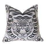 Image of Woven Chenille Tiger Pillow Cover 16x16 For Sale