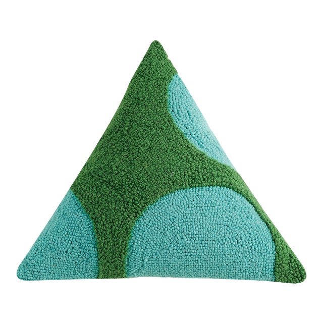 "Cool Geometric Triangle Hook Pillow, 18"" x 18"" x 18"" For Sale"