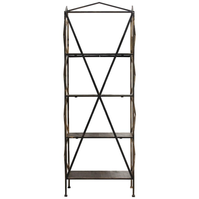 1990s Italian Wireframe Triptych Etagere Shelf - Image 1 of 10