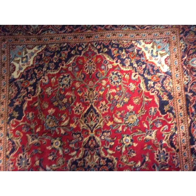 Vintage Oriental Kashan Hand Made Rug - 6′6″ × 9′8″ - Image 5 of 7