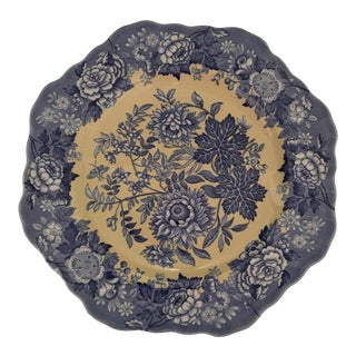 "Spode Blue Room Garden Collection Fancy Salad Plate 9"" Jasmine Yellow For Sale"