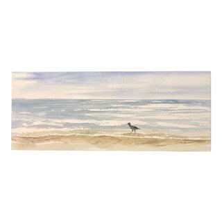 """Nancy Smith Original Seascape """"Shore Hustle"""" Watercolor Painting For Sale"""
