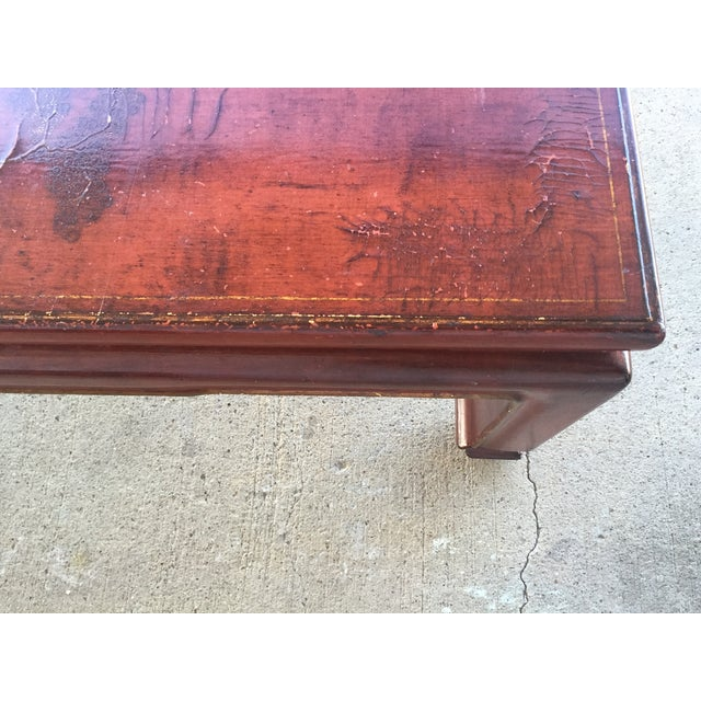 Mid-Century Red Lacquer Chinese Style Coffee Table - Image 5 of 7