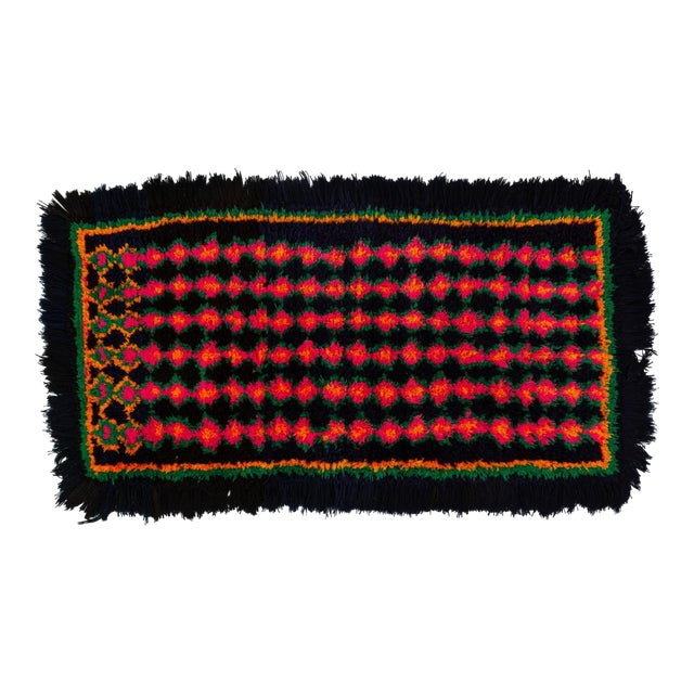 Hand-Tufted Peruvian Shag Rug For Sale