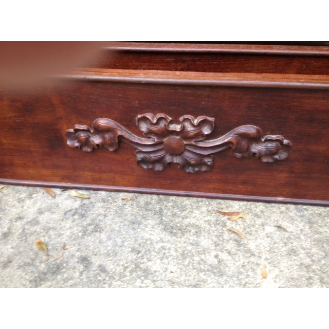 Antique Rosewood Full Bed - Image 8 of 11