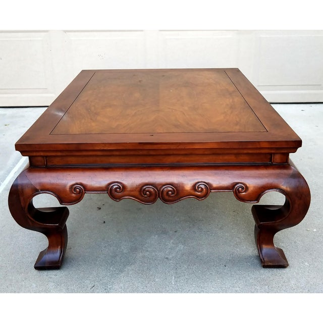 Traditional 1980s Traditional Baker Furniture Coffee Table For Sale - Image 3 of 6