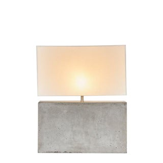 Modern Nellcote Concrete Lamp With White Shade For Sale