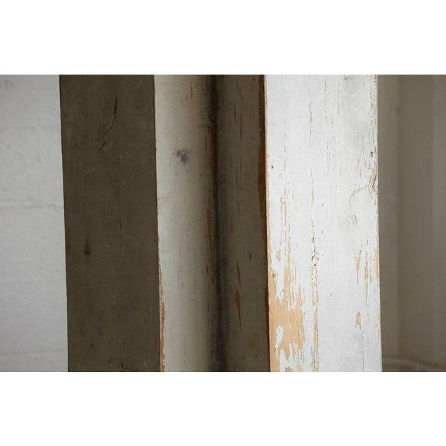 Early 20th Century Distressed Tall Wooden Architectural Column with Patina For Sale - Image 5 of 9