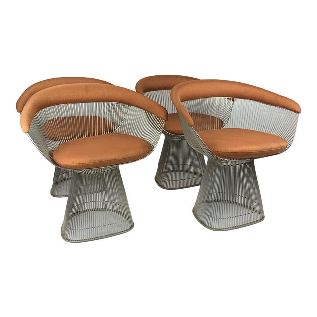 1960s Original Platner Arm Chairs for Knoll International - Set of Four For Sale