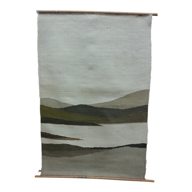 Woven Mountain Landscape Wool - Image 1 of 7