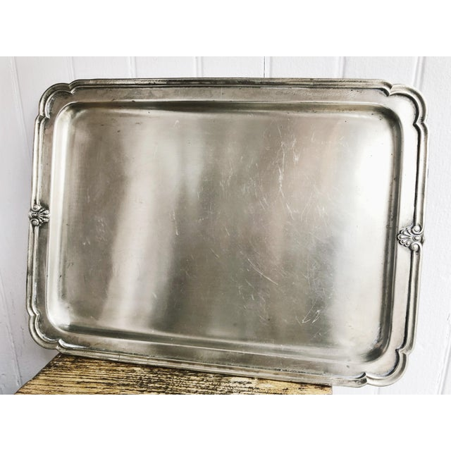 Antique Silver Plated Serving Tray From New York Central & Hudson River Railroad For Sale In New York - Image 6 of 6