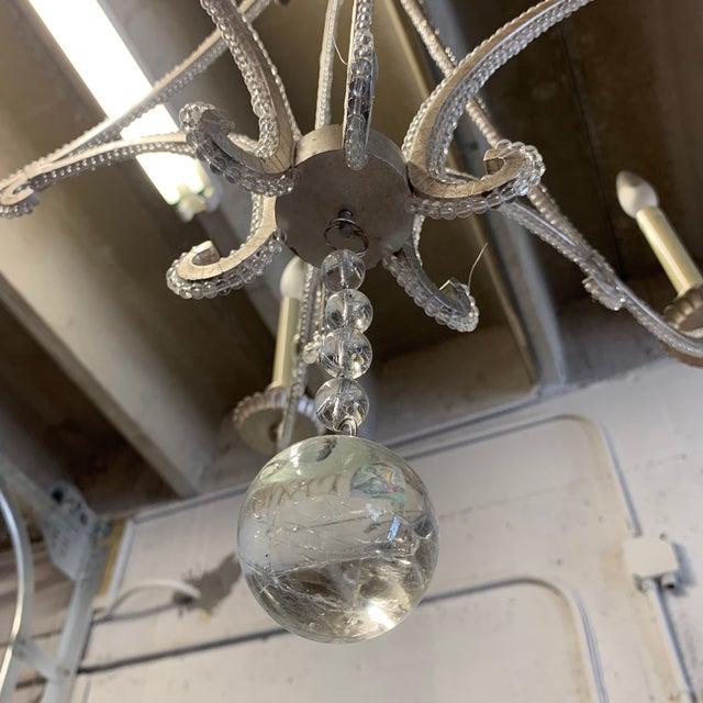 Glass Visual Comfort Chc1550 E. F. Chapman Oslo 6 Light Chandelier For Sale - Image 7 of 11