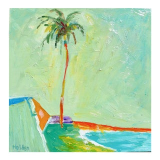 Contemporary Painting, California Beach Palm For Sale