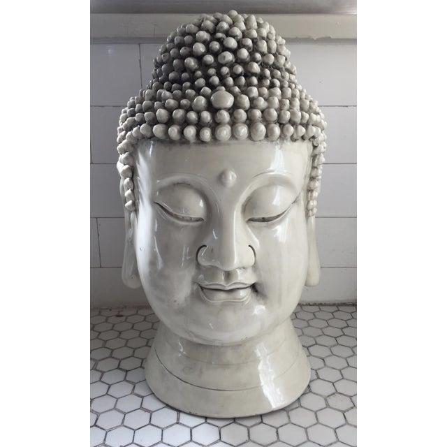 Chinese Blanc De Chine Buddha Head - Image 2 of 9