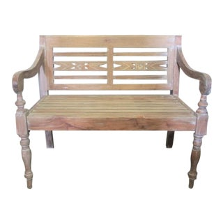 "Bench Seating Light Mahogany 40"" Wide Two Seater"