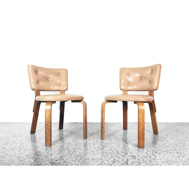 Early Alvar Aalto Model 62 Upholstered Chairs - a Pair For Sale - Image 13 of 13