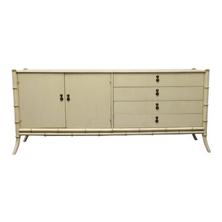 Tomlinson Faux Bamboo Sideboard Credenza For Sale