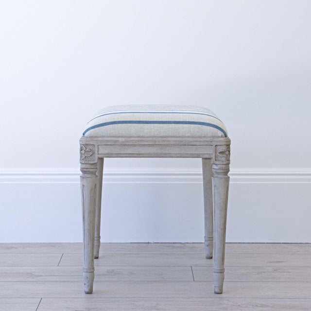 Gustavian (Swedish) Astrid Swedish Gustavian Stool For Sale - Image 3 of 5