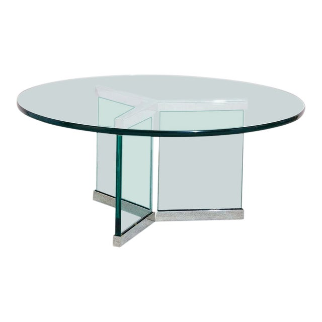 Pace Collection Glass Coffee Table For Sale