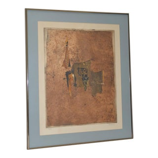 Johnny Gotthard Friedlaender Abstract Lithograph C.1970s