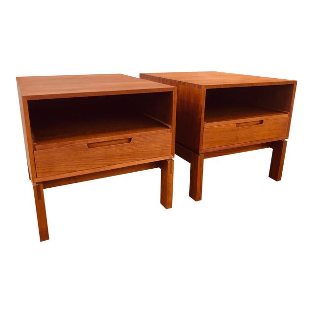 Danish Nightstands by Johannes Aasbjerg - a Pair For Sale