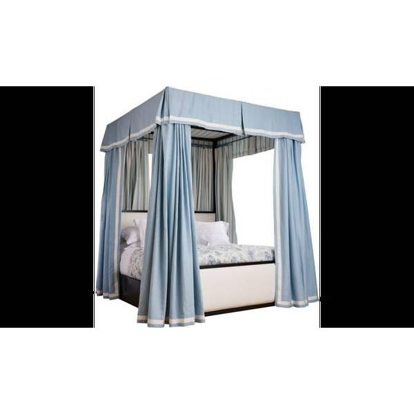 Henredon Furniture Mark D. Sikes Pacific Palisades Queen Upholstered Canopy Bed For Sale - Image 10 of 12