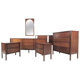 Impressive Vintage Modern Seven-Piece Bedroom Set For Sale