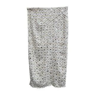 Moroccan Handira Silver & White Wedding Blanket