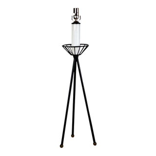 Mid-Century Modern Iron Tripod Lamp For Sale