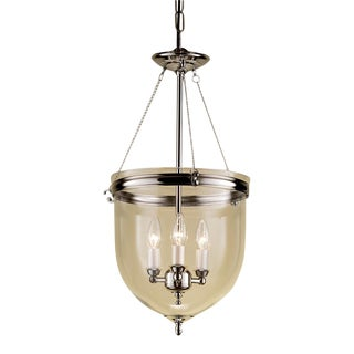 Polished nickel lantern with glass For Sale