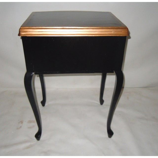 30s Mid Century Ebony Side Table - Image 5 of 8