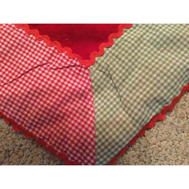 Vintage Red Velvet Tree Skirt For Sale - Image 6 of 11