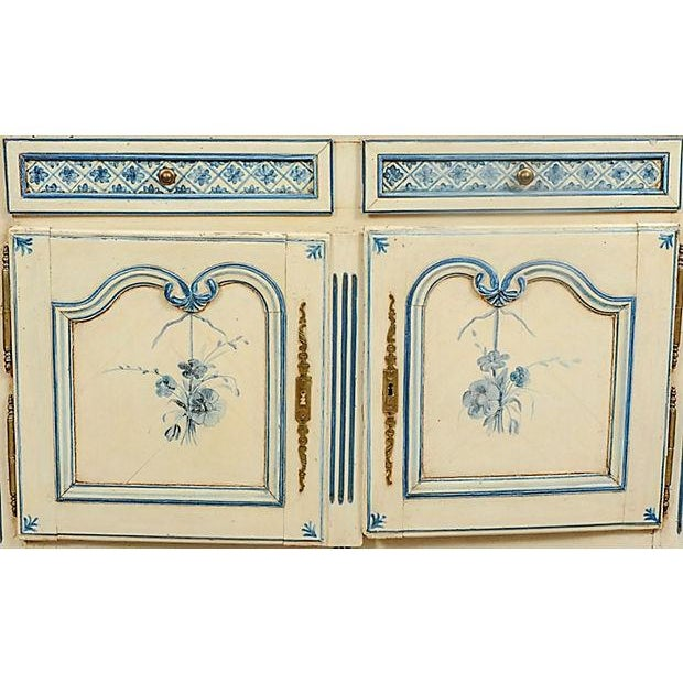 French Antique Louis XV Provençal Painted Sideboard For Sale - Image 3 of 5