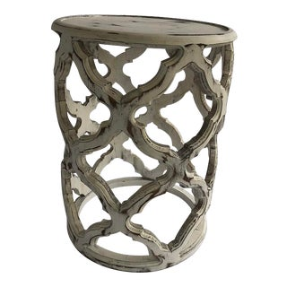 Modern Side Table with Classic Clover Design For Sale